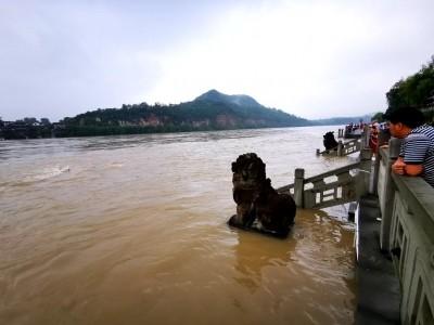"""阆中连遭暴雨,嘉陵江成""""黄河""""了!"""